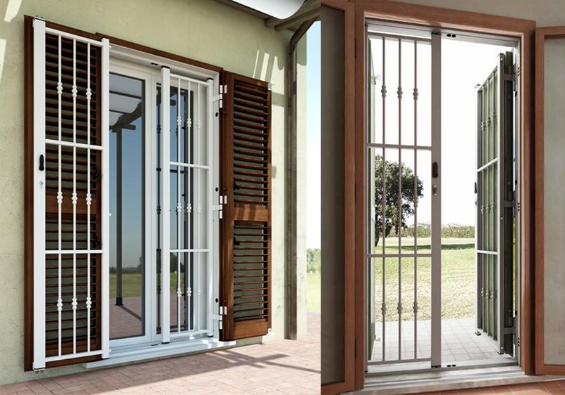 Vendita grate e persiane combinato grata e persiana roma emilio infissi serramenti e infissi - Grate finestre in ferro ...